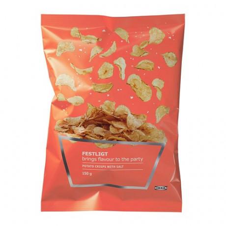 Картофельные чипсы - соленый фото 0